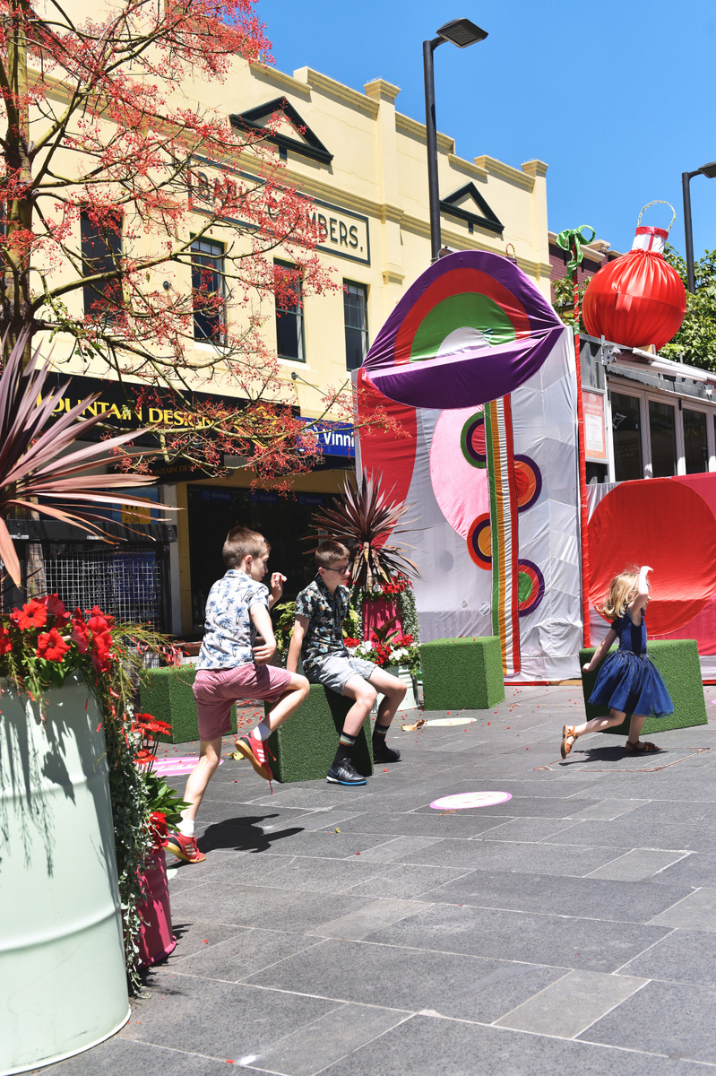 Children play at the Creative Container in Wollongong.