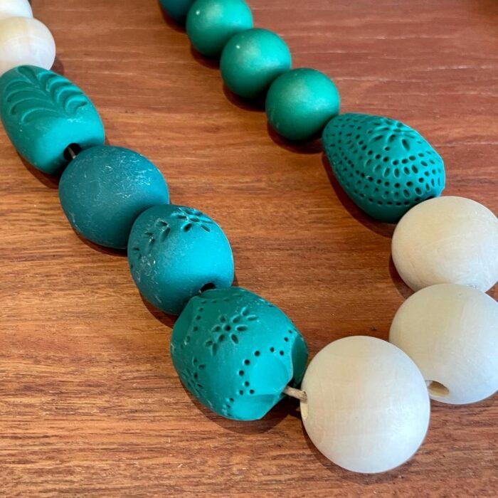 Bellebird clay necklace